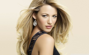 Picture look, face, actress, blonde, model, Blake Lively, Blake Lively