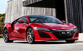 Picture supercar, Honda, red, Honda, NSX