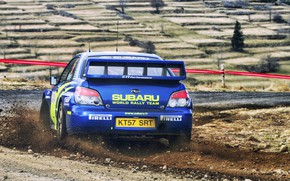 Wallpaper Turn, Blue, Rally, Subaru Impreza WRX STI, Car, Subaru, Impreza, Rally, Race, STI, Machine, WRX, ...