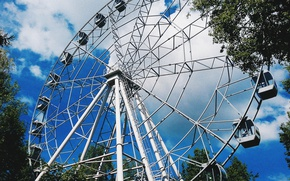 Picture summer, beautiful, Perm, Ferris wheel, Park Gorky