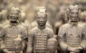 Wallpaper my planet, travel, China, famous, ancient, bokeh, blur, wallpaper., warriors, closeup, 210g.to BC, sculpture figure, ...