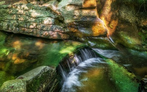 Picture river, stream, rocks, England, Yorkshire
