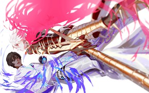 Picture weapons, magic, ball, anime, art, guys, characters, Fate / Grand Order