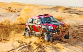 Picture Sand, Mini, Dust, Sport, Speed, Race, Rally, Rally, Dune, Raid, MINI Cooper, X-Raid