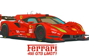 Wallpaper LMGT1, Ferrari, Figure, 488 GTB