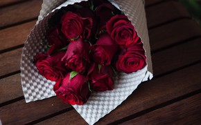 Picture bouquet, Background, Roses