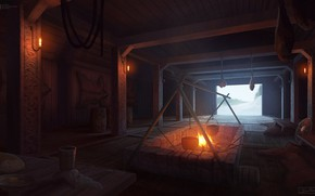 Picture hearth, housing, arch, Viking Interior