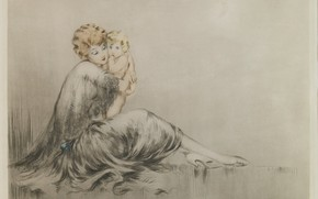 Picture 1928, Louis Icart, A young mother