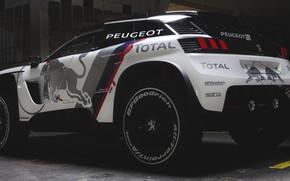 Picture Auto, Machine, Peugeot, Red Bull, New, Rally, Dakar, Dakar, SUV, Rally, Sport, DKR, 3008, Peugeot ...