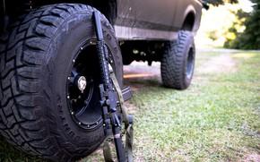 Picture auto, wheel, automatic, assault rifle