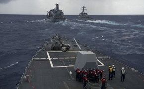 Picture guided-missile destroyer, USA Navy, Arleigh Burke-class, DDG 88, DDG-54, USS Curtis Wilbur