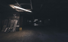 Picture void, dark, the building, composition, signs, alley, black and white, Abandoned, the room