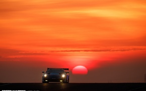 Wallpaper the sun, trek, Gallardo, race, Lamborghini, Super Trophy, morning