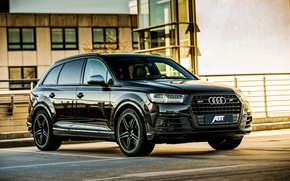 Wallpaper Audi, Audi, black, Black, crossover, ABBOT, SQ7