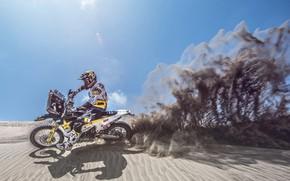 Picture Sand, Motorcycle, Moto, Rally, Dakar, Dakar, Rally, Dune, Husqvarna, Husqvarna Motorcycles, Husqvarna