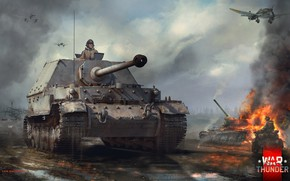 Picture motorcycle, SAU, Thing, dim, Ferdinand, Ferdinand, War Thunder
