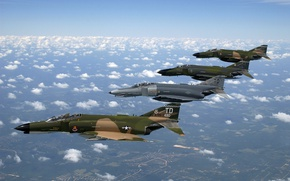 Picture fighter, Phantom 2, US Air Force, McDonnell Douglas F-4 Phantom II, F 4, fighter-bomber