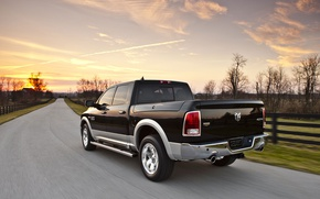Picture road, Dodge, pickup, 1500, Ram