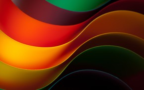 Picture abstraction, background, rainbow, abstract, Rainbow, background, Kolor, colored, wavy
