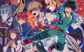 Picture anime, art, heroes, Boku no Hero Academy, My hero Academy