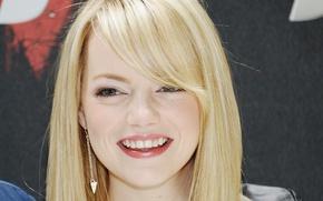 Picture smile, actress, Emma Stone, Emma Stone