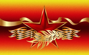 Wallpaper graphics, star, tape, May 9, Holidays, Victory day