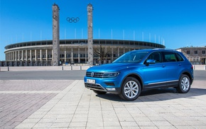 Picture blue, Germany, Volkswagen, Germany, blue, New, New, Stadium, Stadium, Volkswagen, Tiguan, Tiguan, 2016, 4motion