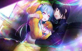 Picture girl, anime, art, guy, manga, Tokyo Necro