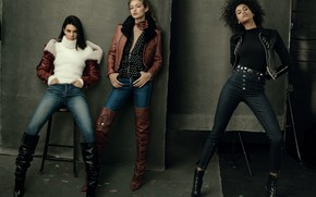 Picture model, three, Kendall Jenner, Gigi Hadid