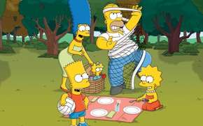 Wallpaper Nature, The simpsons, Figure, Mesh, Homer, Maggie, Maggie, Simpsons, Bart, Art, Lisa, Cartoon, The Simpsons, ...