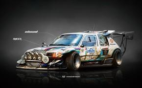 Picture Auto, Figure, Machine, Background, Peugeot, Car, Car, Art, Art, WRC, Rally, Rendering, 205, T16, Yasid …
