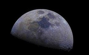 Picture surface, the moon, satellite, relief