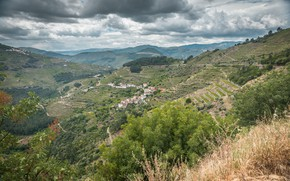 Picture Nature, Clouds, Mountains, Panorama, Village, Portugal, Nature, Clouds, Portugal, Mountains, Village, Panorama