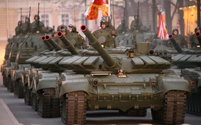 Picture parade, May 9, T-72, battle tank