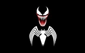 Wallpaper background, logo, symbol, venom, MARVEL, venom