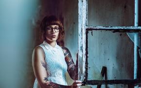 Picture girl, portrait, window