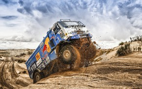 Picture The sky, Sand, Nature, Sport, Truck, Race, Master, Russia, Beast, Kamaz, Rally, Dakar, Dakar, Rally, …