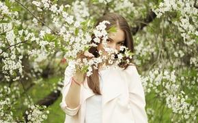 Picture look, face, model, hair, flowering, cutie, Nastya