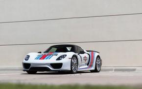 Picture Porsche, white, Spyder, 918, mrtini