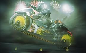 Picture design, style, background, concept, motorcycle, helmet, bike, motorcyclist, Lee Rosario