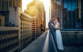 Picture city, girl, love, photography, woman, photo, man, kiss, boy, mood, hug, buildings, sunlight, skyscrapers, feeling, ...