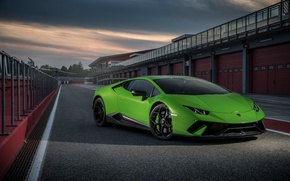 Picture green, Lamborghini, Huracan, Huracan Performante, Lamborghini Huracan Performance