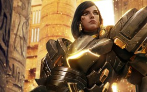 Picture look, woman, warrior, Pharah