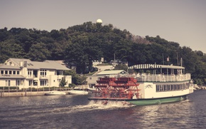 Picture river, steamer, USA, history, Mississippi, steamboat