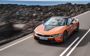 Wallpaper BMW i8, 2018, Roadster