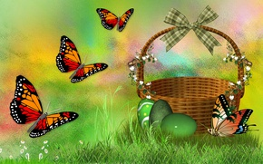 Wallpaper BUTTERFLY, MOOD, EASTER, EGGS, HOLIDAY, THE WALLPAPERS