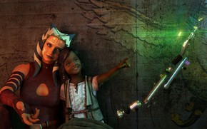 Picture rendering, girl, alien, star wars, ahsoka tano