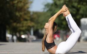 Picture summer, girl, flexibility, yoga, legs
