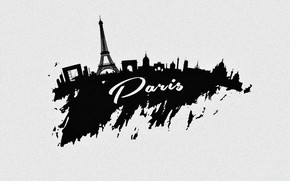 Picture the city, Paris, vector, silhouette