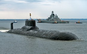 Picture Navy, Peter the great, Dmitry Donskoy, nuclear missile cruiser, nuclear submarine missile cruiser